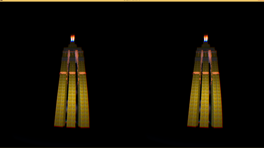 The ominous tower of DK2 boxes