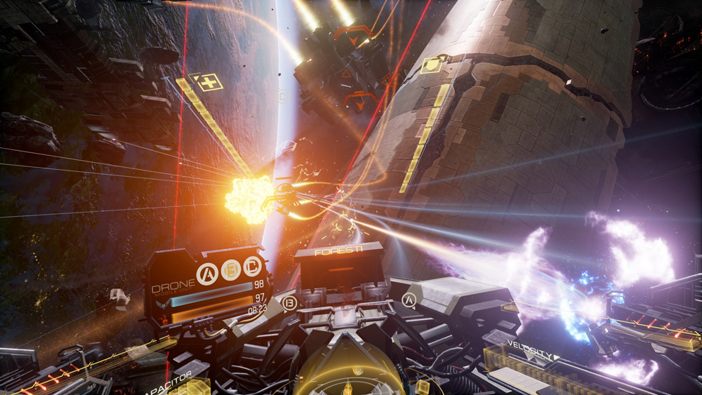 EVE Valkyrie Explosions VR
