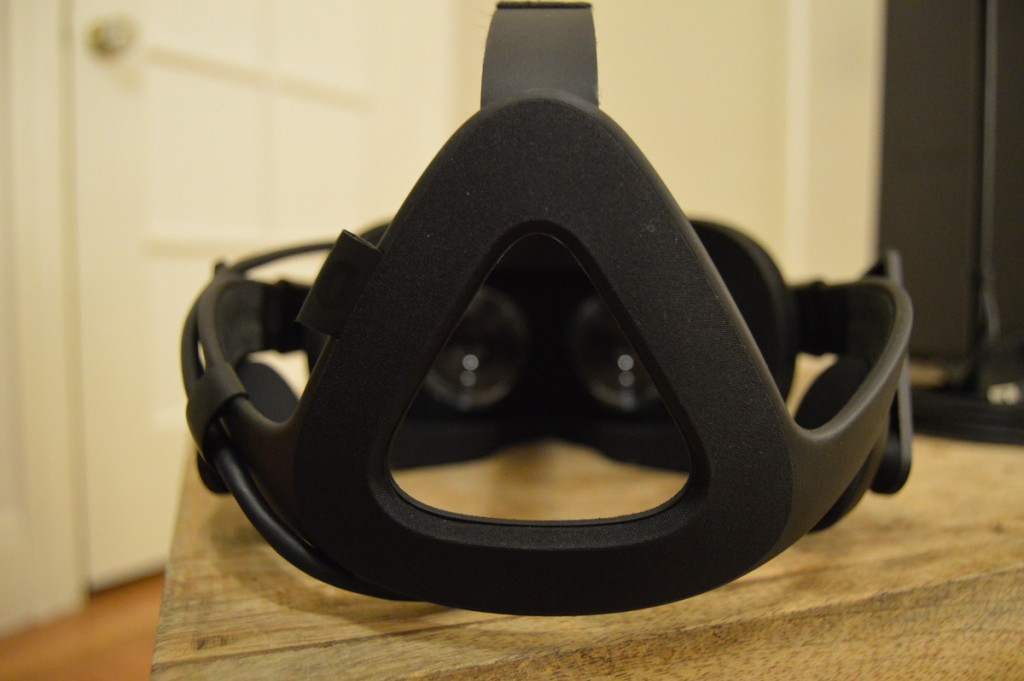 The back side of the Oculus Rift.
