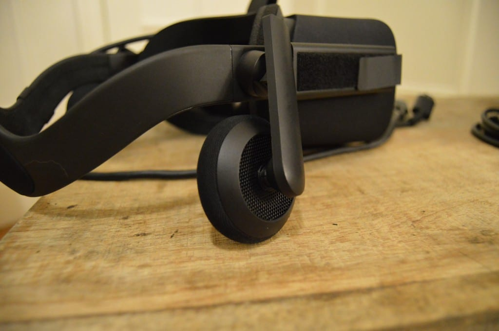 The integrated headphones on the Oculus Rift are a lot better than they look