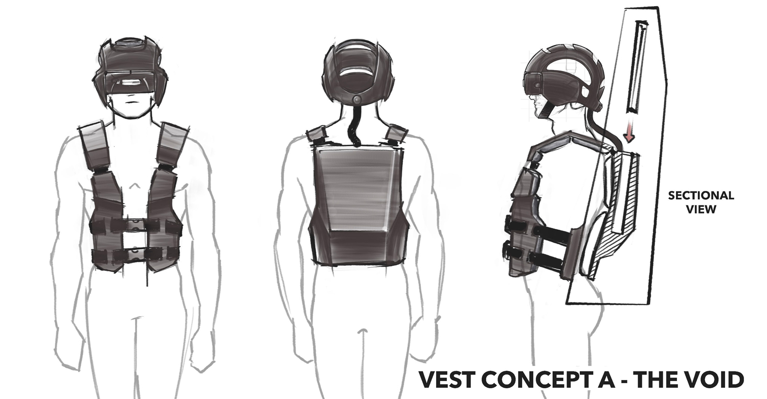 One of THE VOID's concepts for an untethered VR system.
