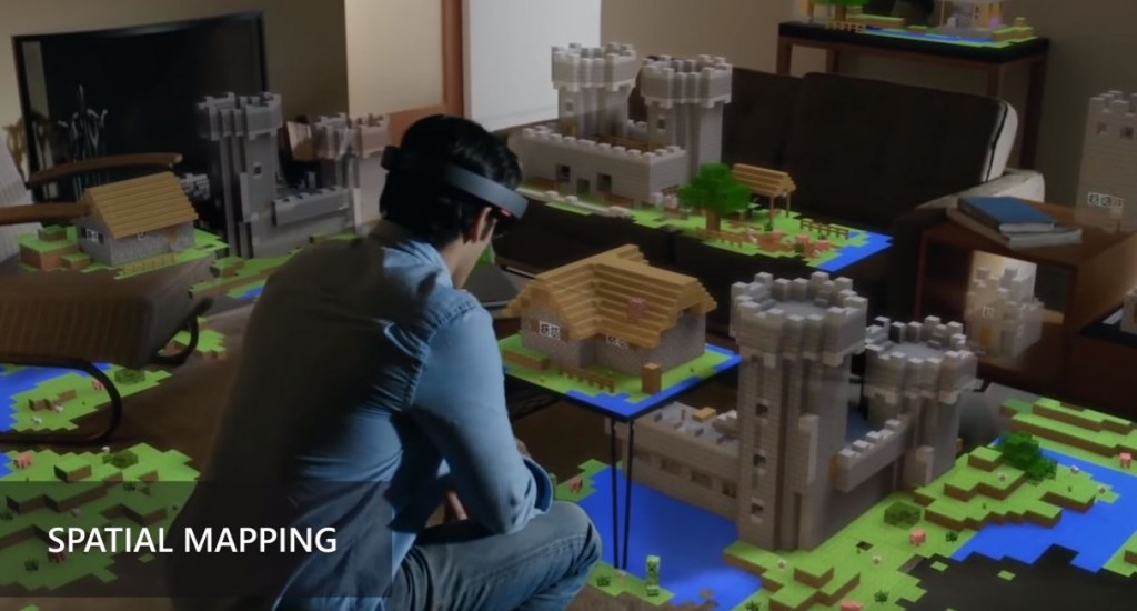 hololens minecraft spatial mapping