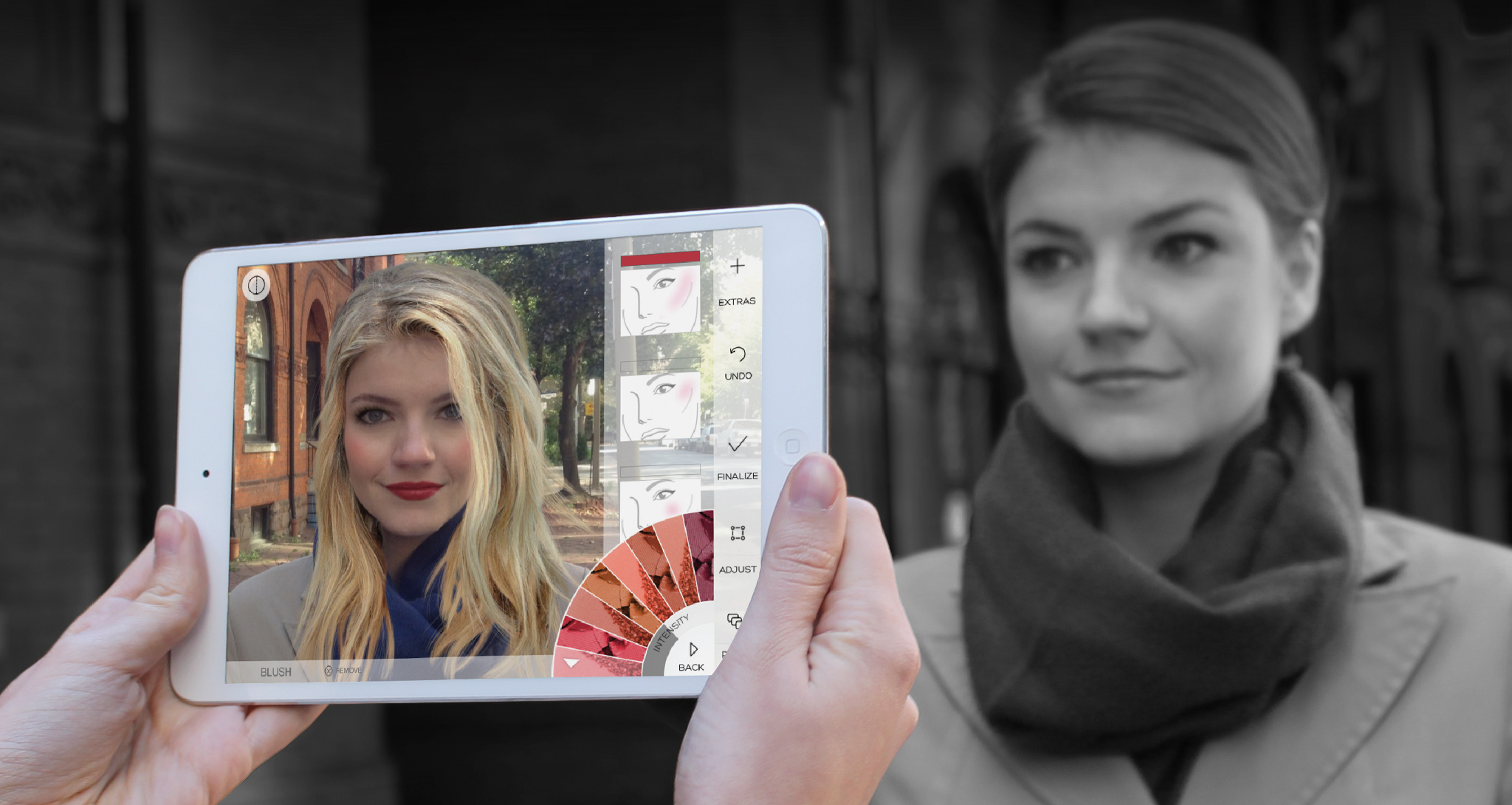 Using Augmented Reality Makeovers