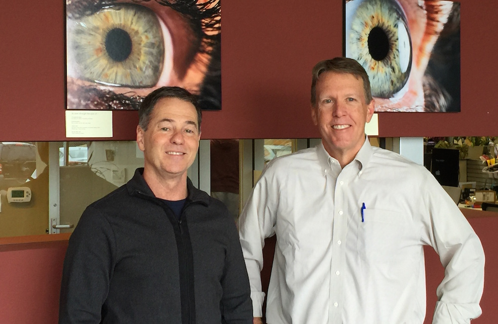 Eyeluence founders Jim Marggraff (Left) and David Stiehr (Right)