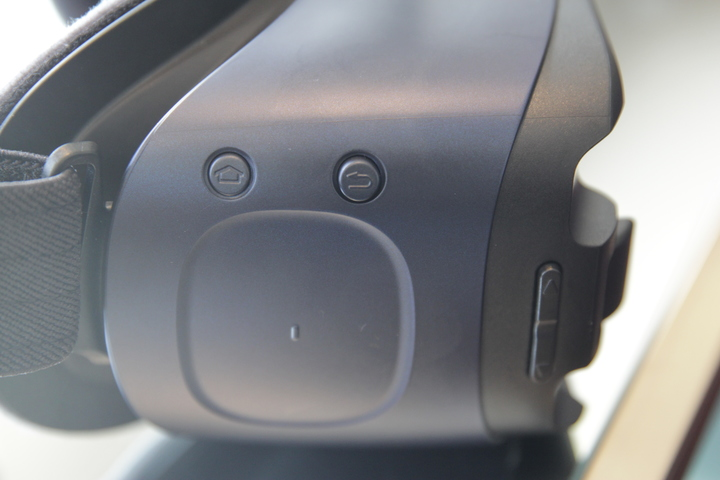 The new Gear VR's side panel.