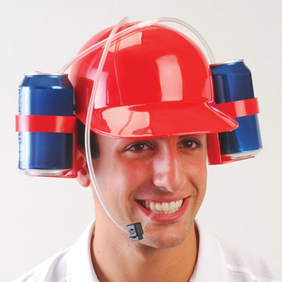 soda beer can hat