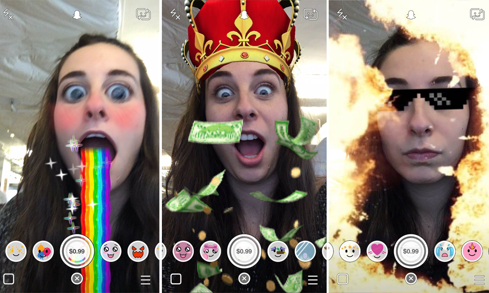 Snapchat's Lenses are a primitive form of AR