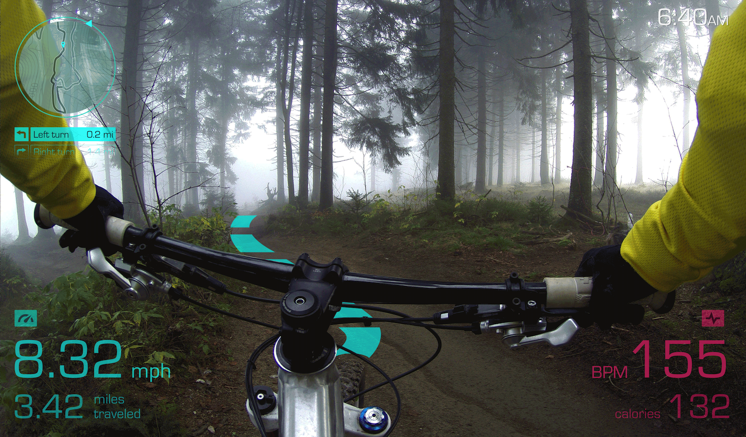 augmented reality heads up display for bike