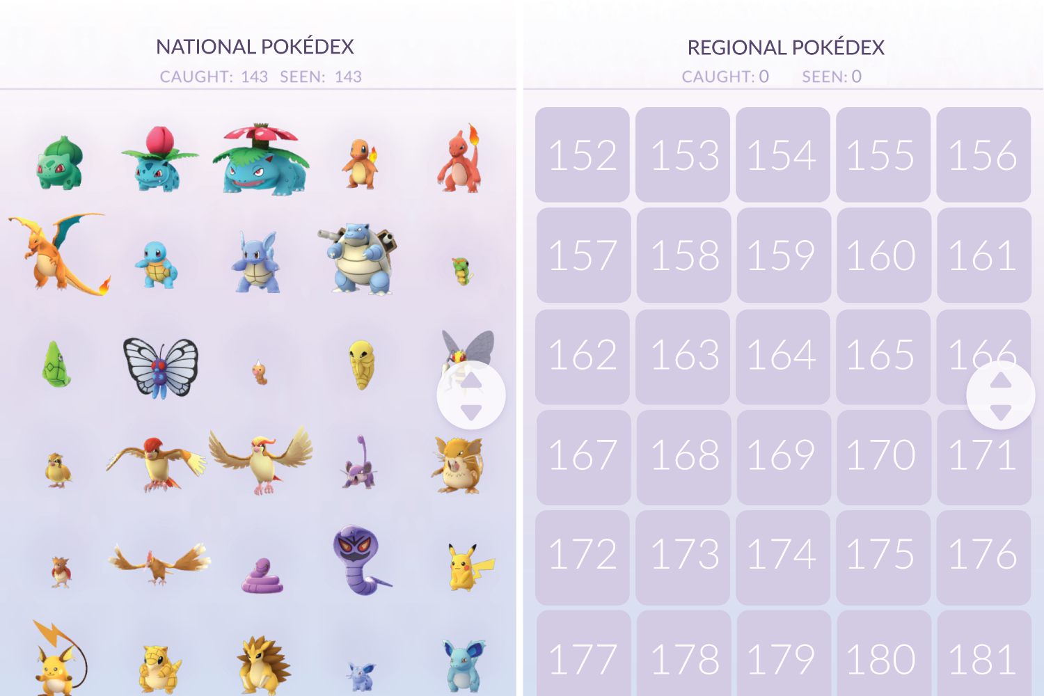 What the regional vs. national Pokedex could look like