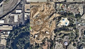 This Photo Shows A Year of Construction Progress on 'Star Wars' Themed Area Coming Soon to Disneyland