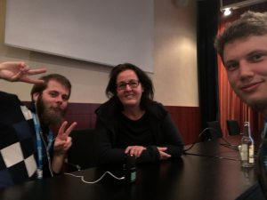 Great episode on storytelling with Astrid Kahmke (in the middle)