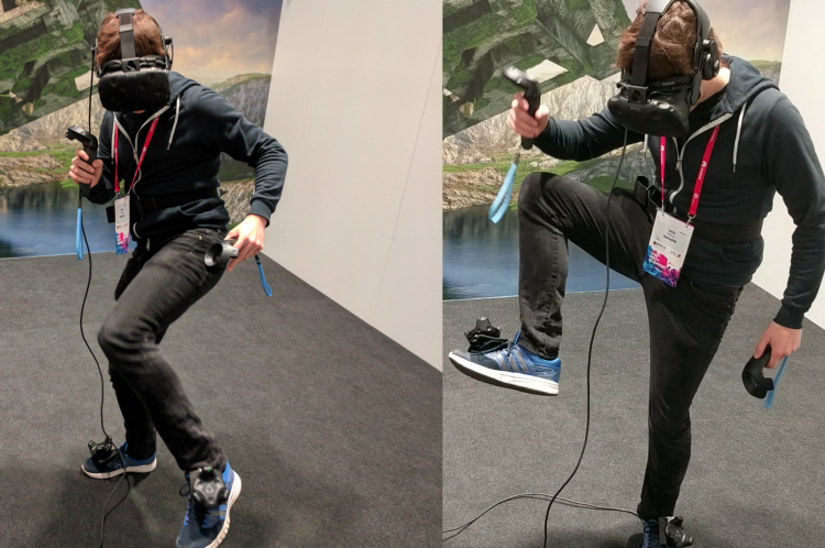 I Kicked A Dinosaur in The Face Using Vive's Full Body Tracking