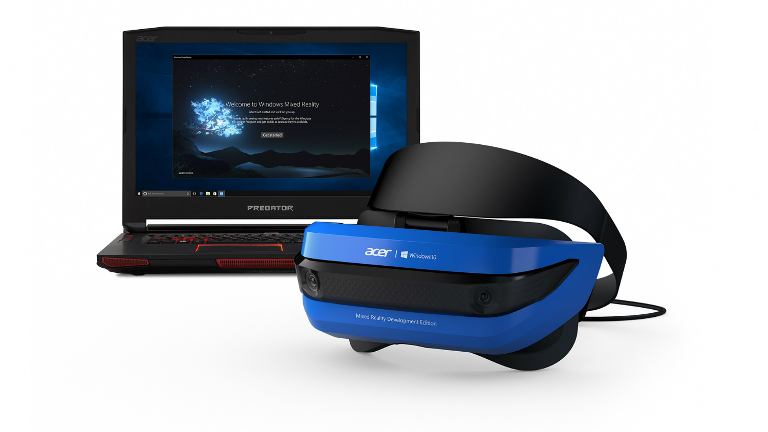 This is Acer's kit, the first Holographic VR headset to roll out to developers.