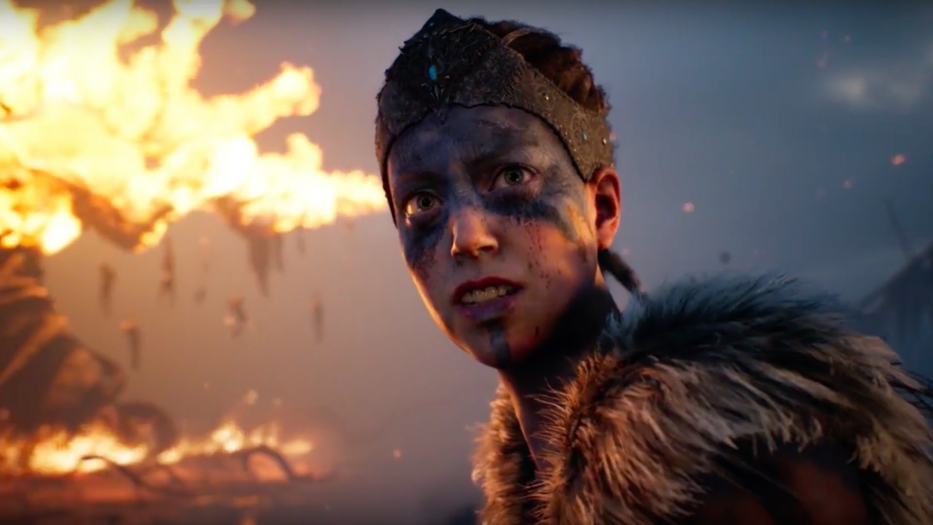 A Screenshot of the Hellblade 360-degree trailer