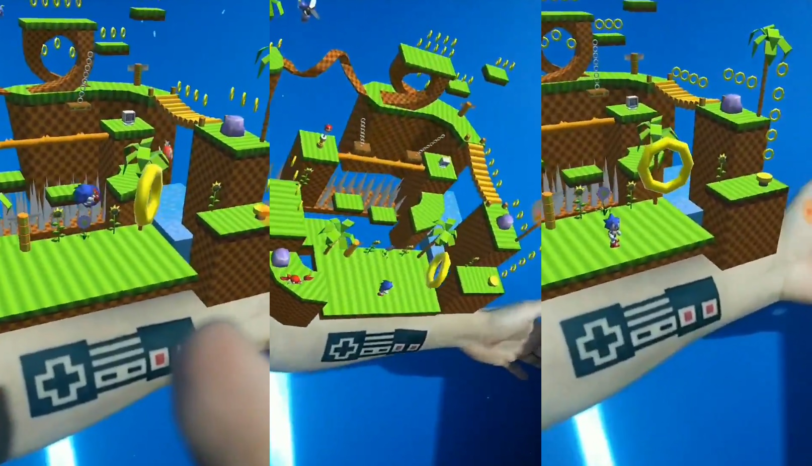 This Amazing Sonic The Hedgehog Ar App Uses An Tattoo As A Controller