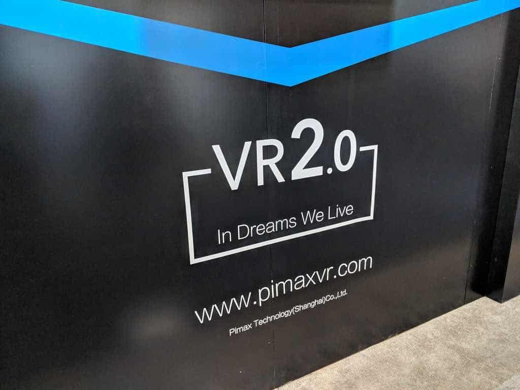 pimax booth at ces 2019 in dreams we live