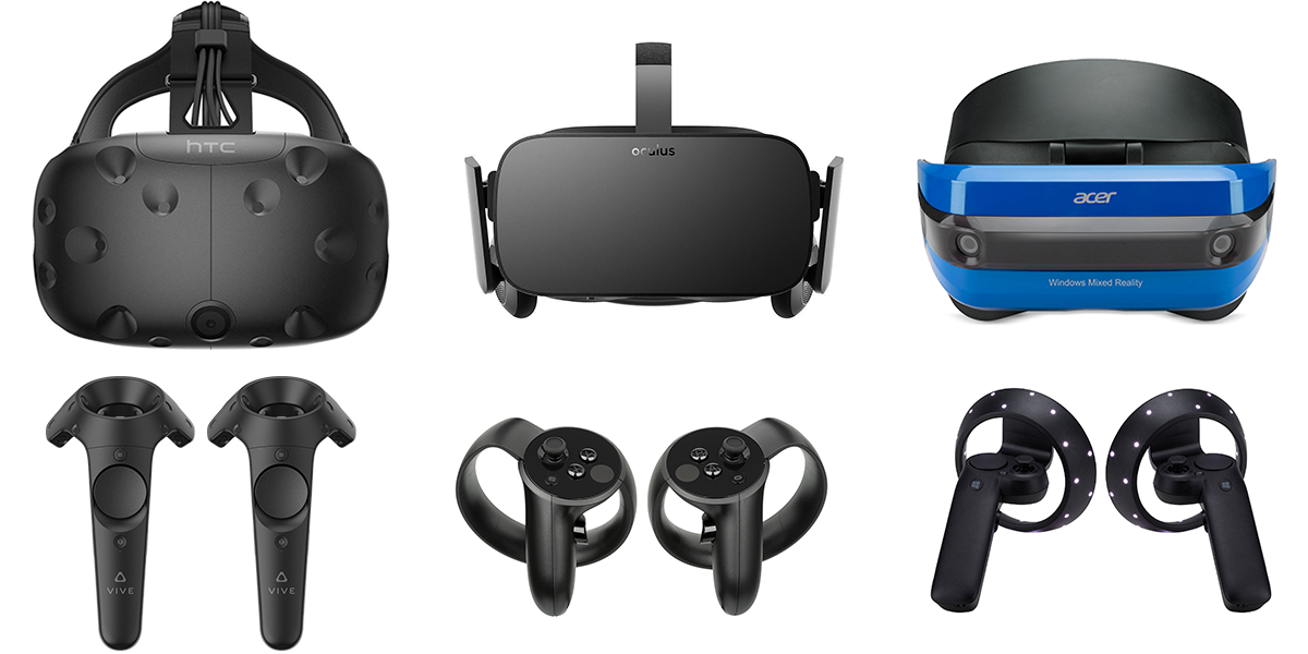 HTC Vive Oculus Rift Windows Mixed Reality Controllers