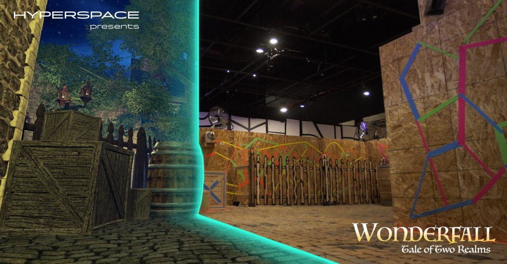 Wonderfall Hyperspace XR location based entertainment vr the void nomadic