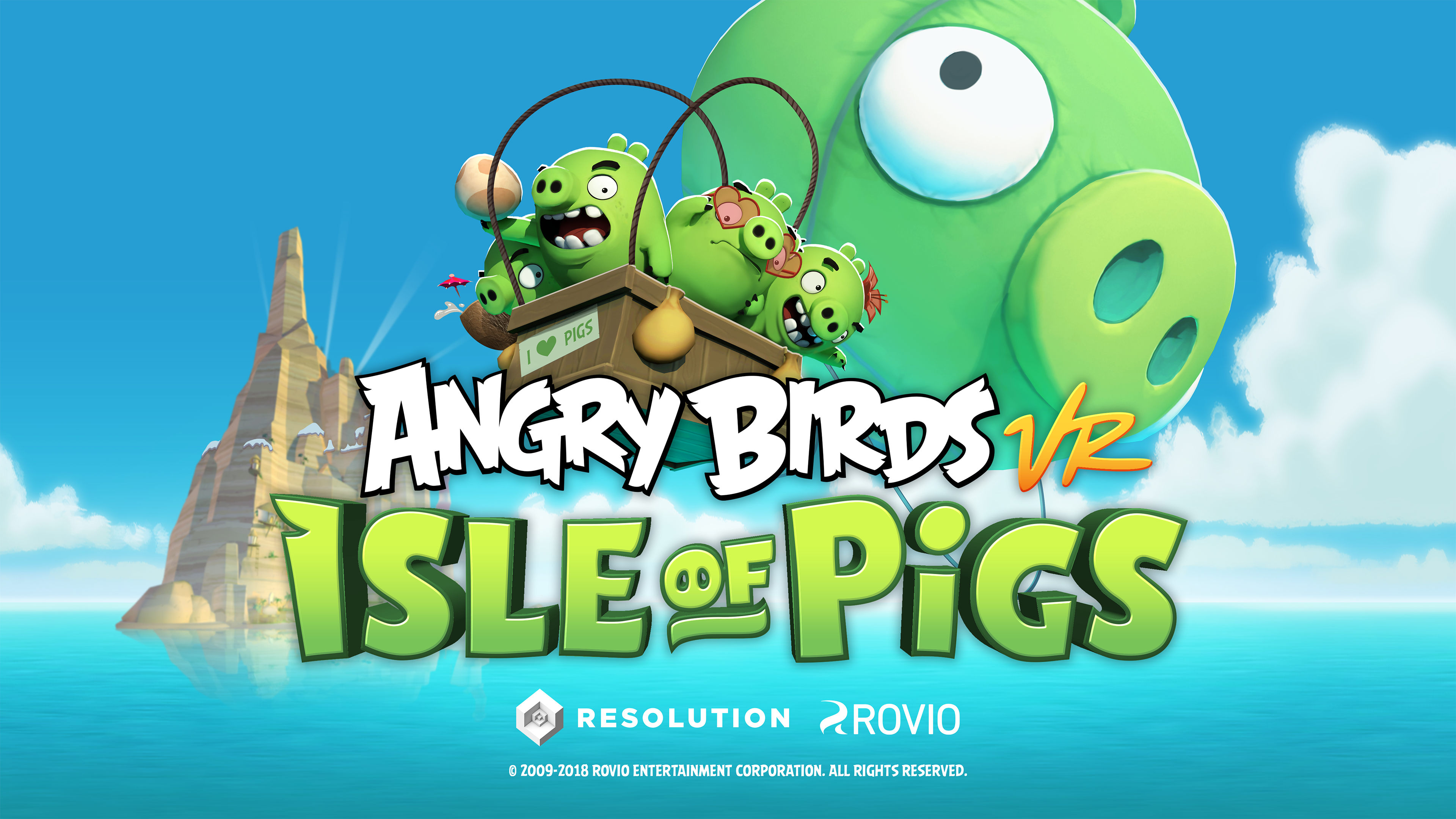Angry Birds VR _ Isle of Pigs Hero Image