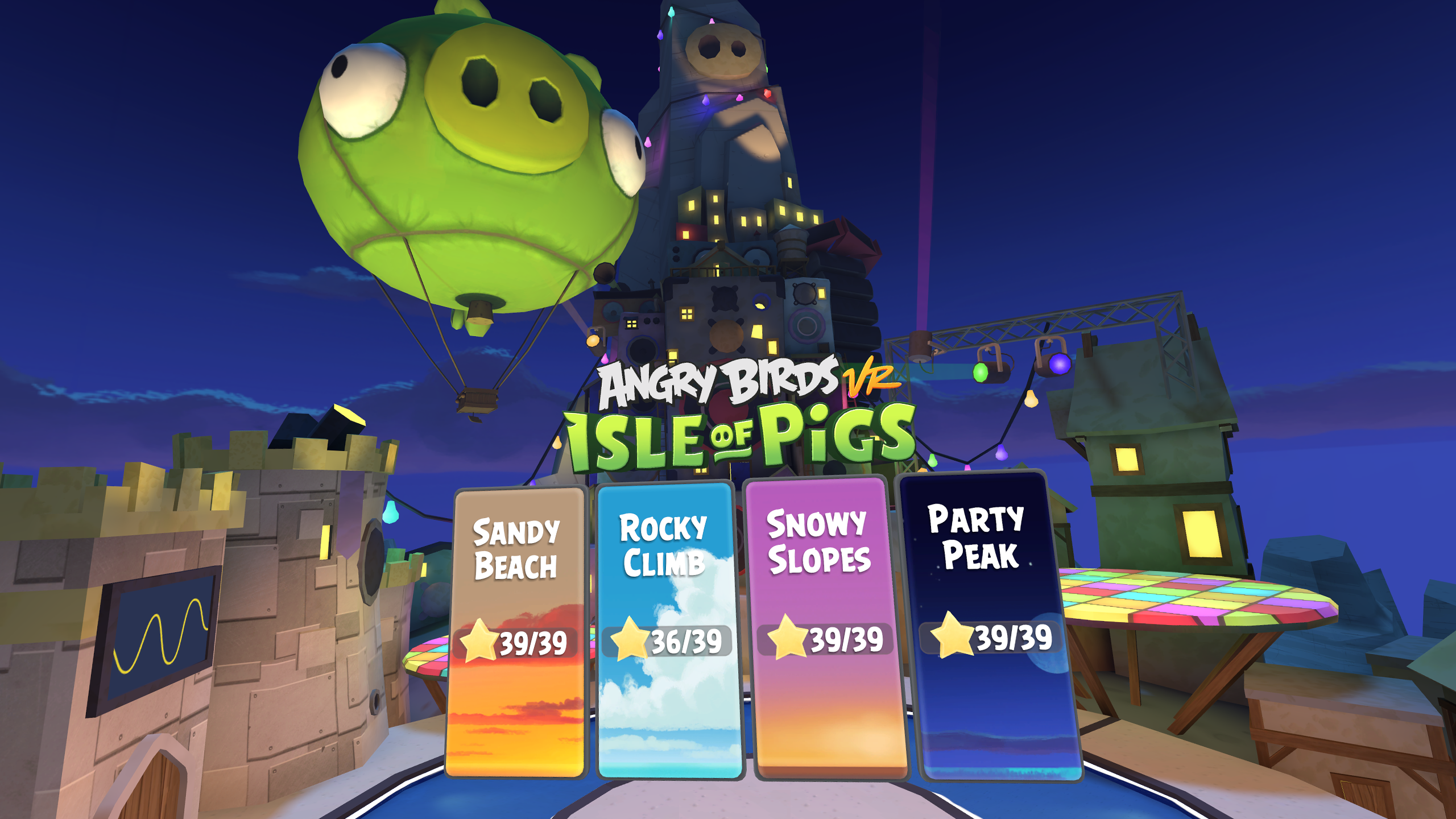 angry birds vr Party Peak
