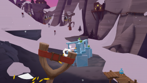 angry birds vr Snowy Slopes