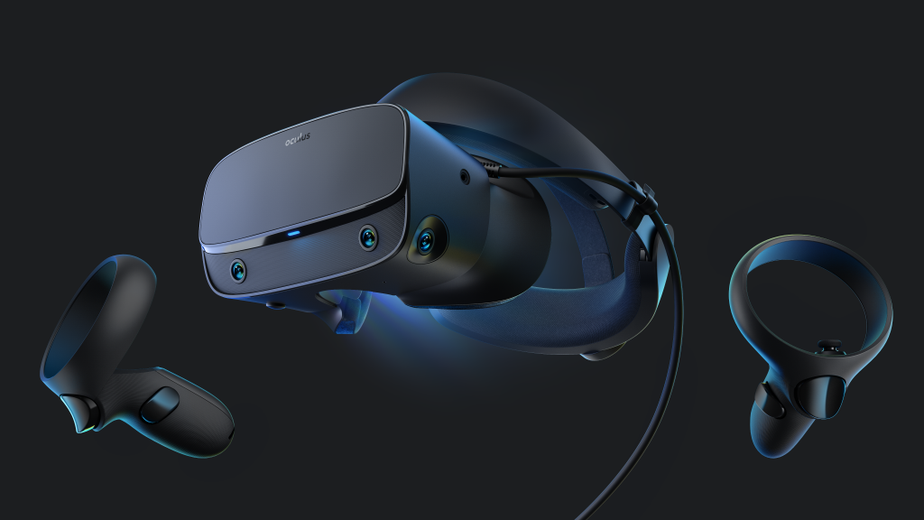oculus rift s headset and controllers