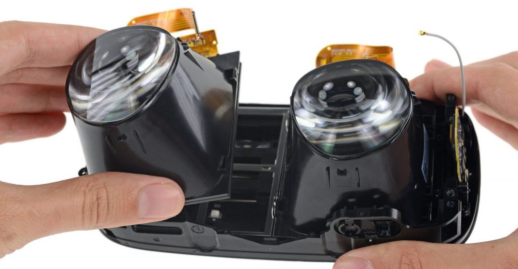 vr panels lenses dual
