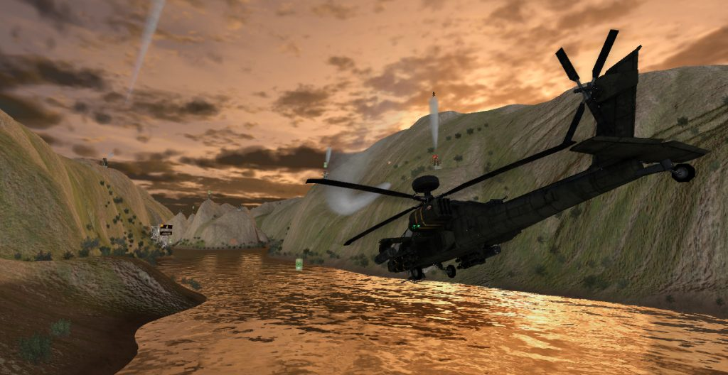 virzoom apache helicopter