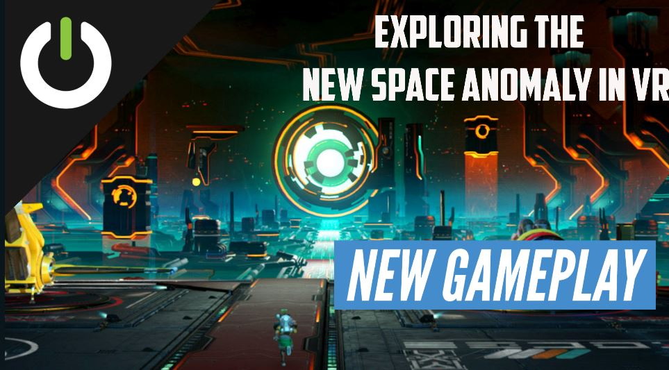 exploring new space anomaly in vr no man's sky gameplay