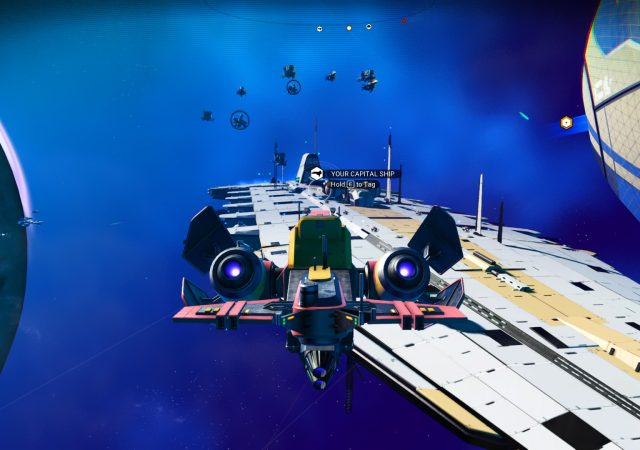 no mans sky freighter in space