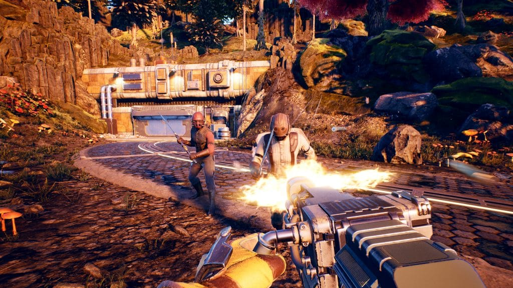 the outer worlds fps gameplay