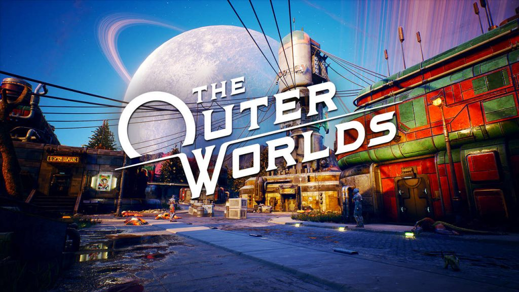 the outer worlds title image city background