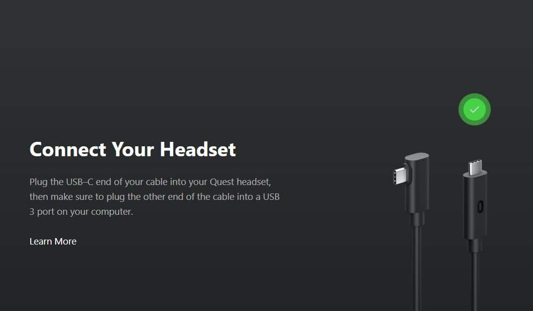USB 3 Oculus Link connect your headset quest