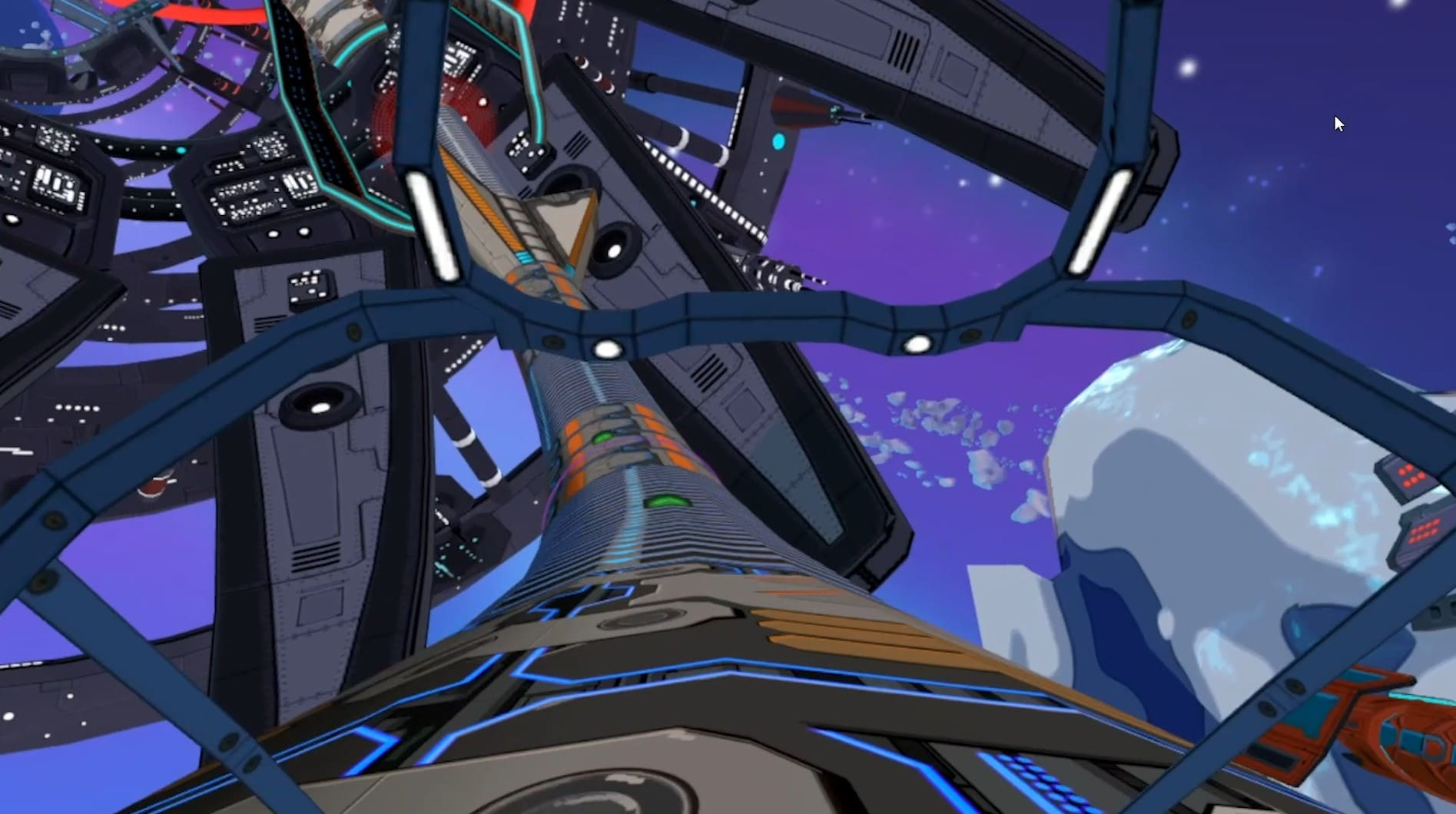 radial-g proteus quest track gameplay screenshot