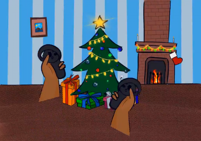 Oculus Touch Christmas Tree Cartoon
