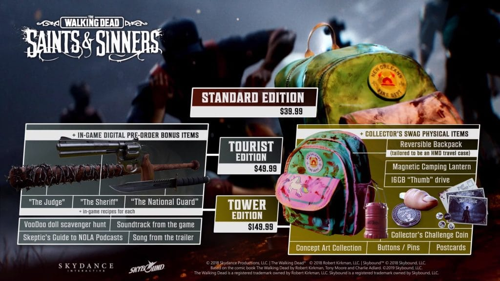 walking dead saints and sinners pre-order collectors edition