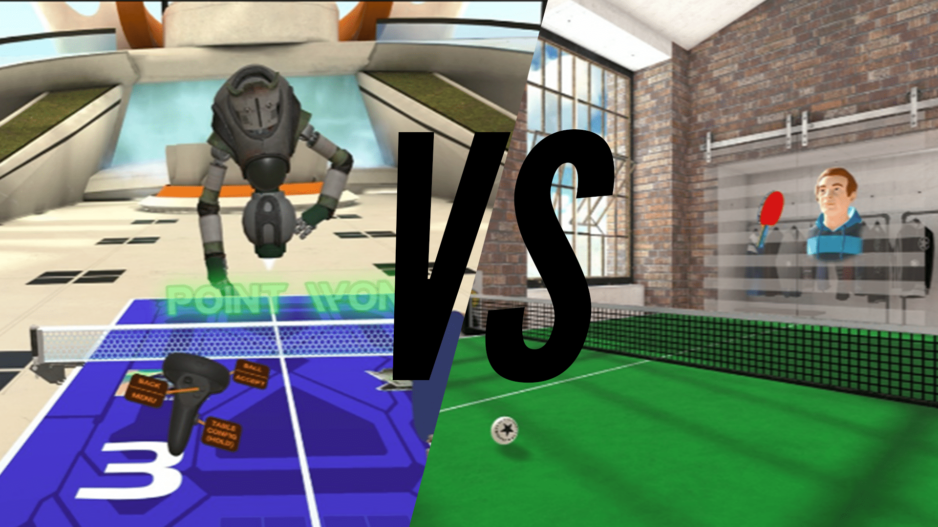 Best Oculus Quest Ping Pong Game Racket Fury Eleven