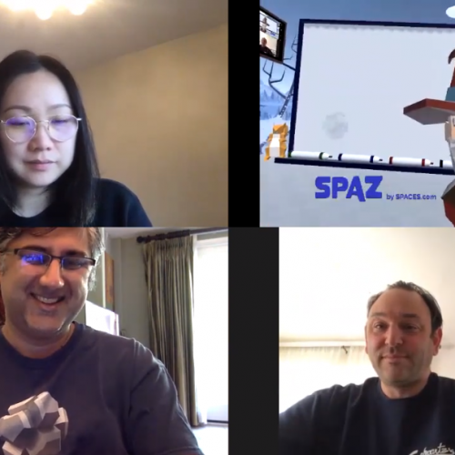 spaz vr video call meeting