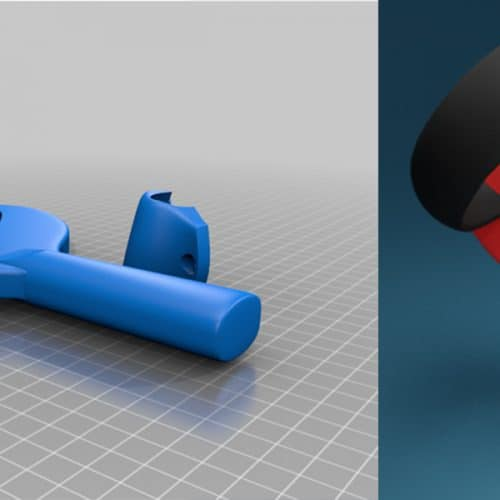 3d printed grip oculus touch controllers table tennis