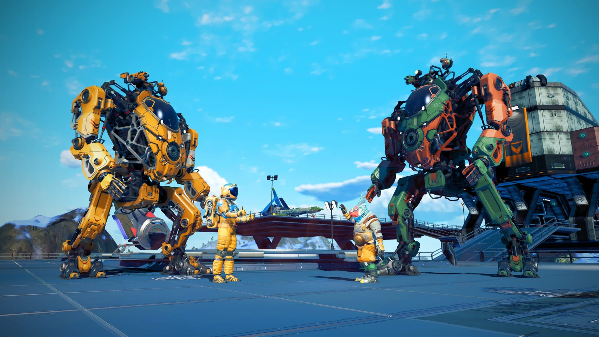 Watch No Man S Sky Is Getting Mechs See Them In Vr Action