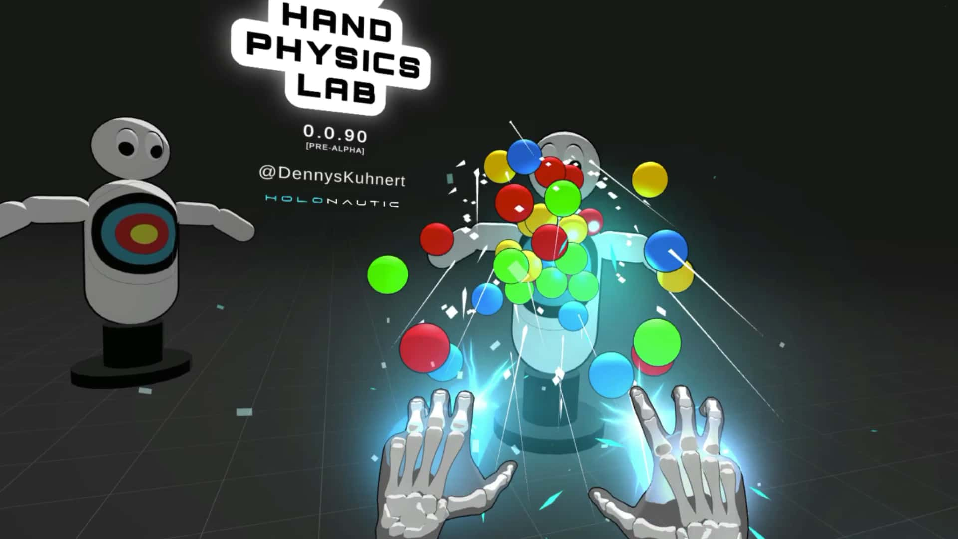hands Physics Lab force push