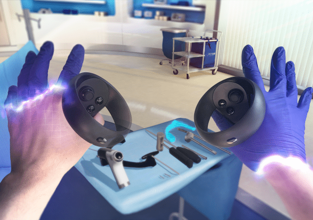 osso vr surgery touch controllers