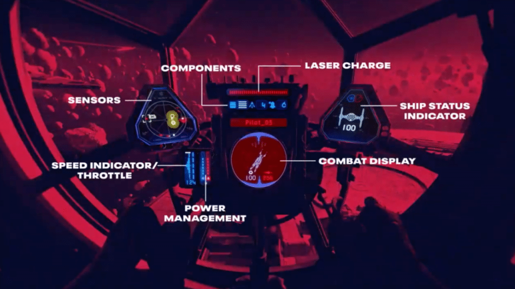 star wars squadrons cockpit UI example