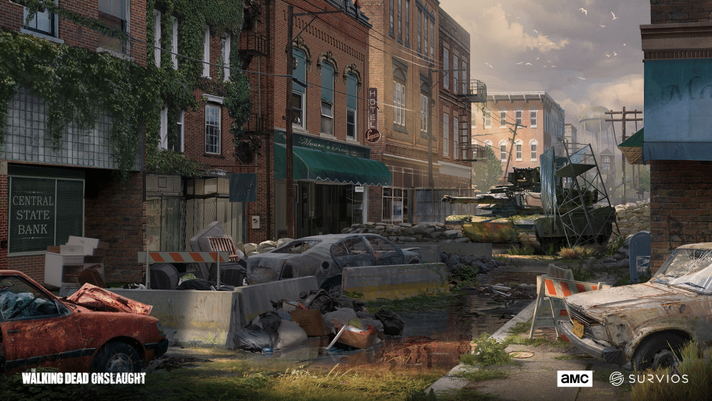 the walking dead onslaught concept art cars