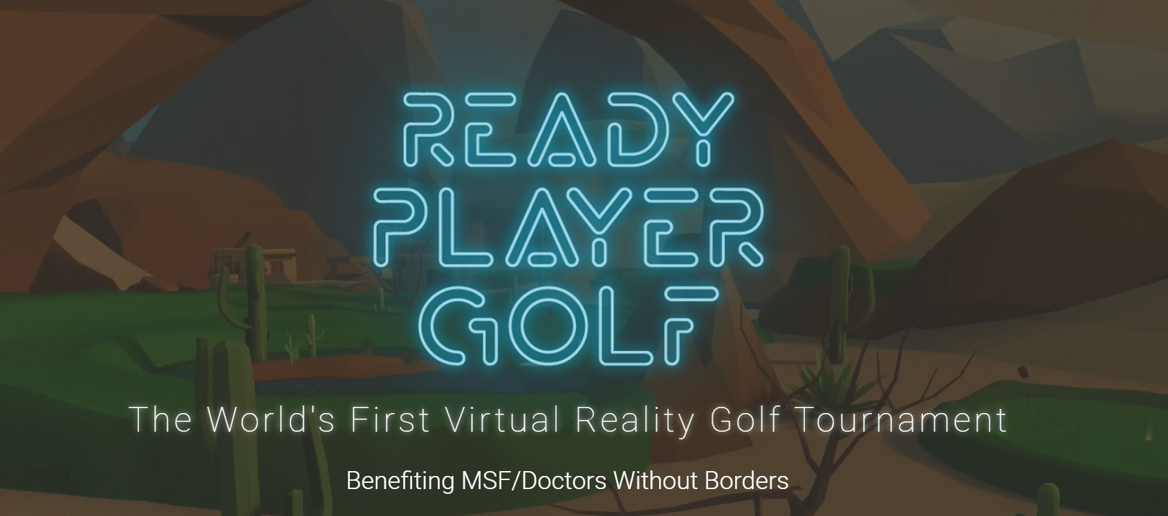 ready player golf vr golf tournament title image