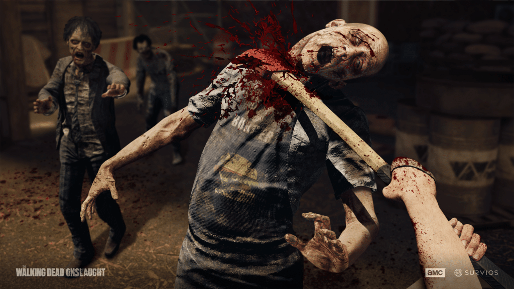 the walking dead onslaught gore
