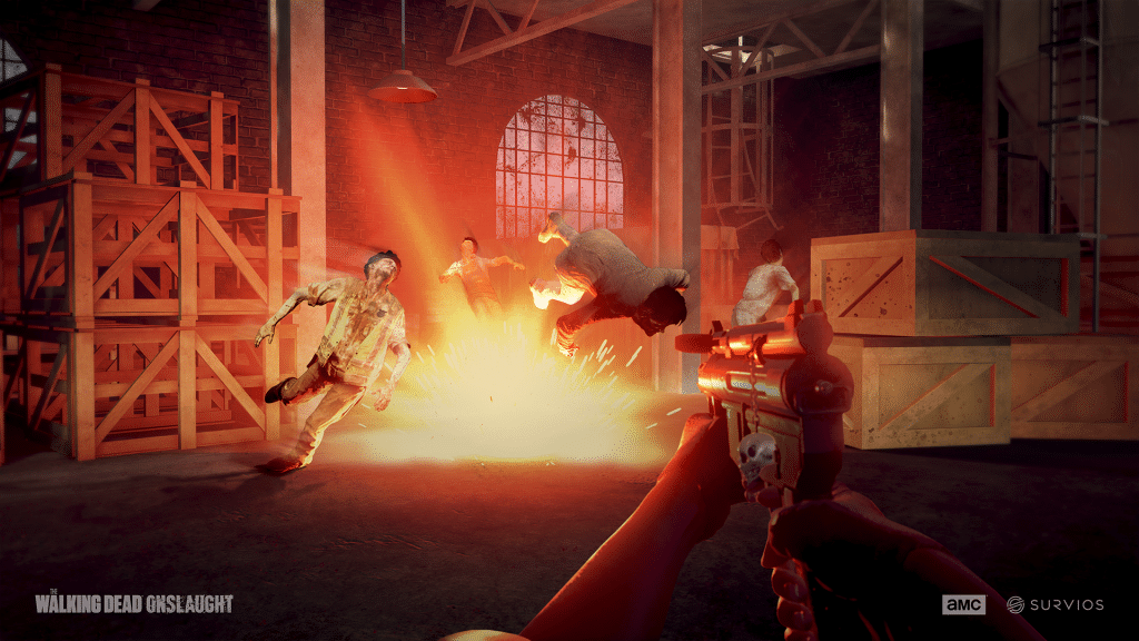 the walking dead onslaught explosion