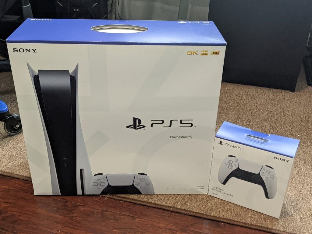 ps5 playstation 5 boxes received