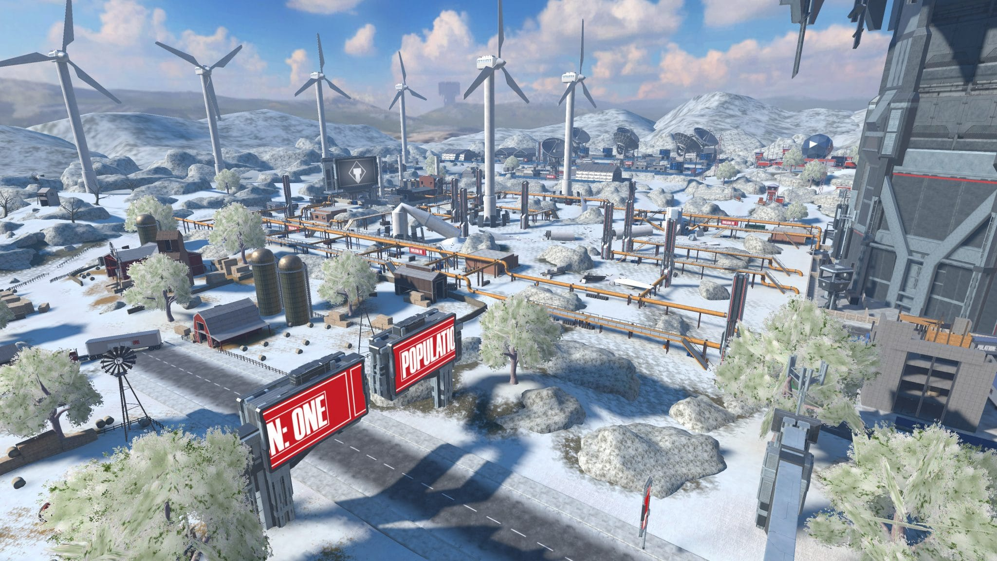 population: one winter map