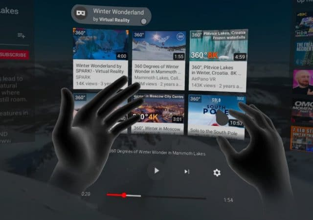 YouTube VR Hand Tracking
